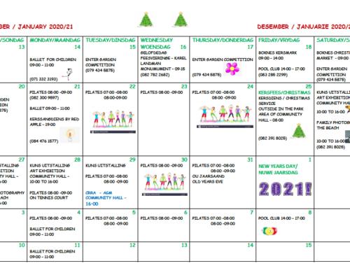 December 2020 activities