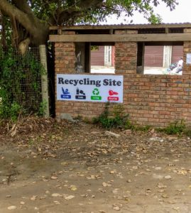 Recycle drop off in Bokness