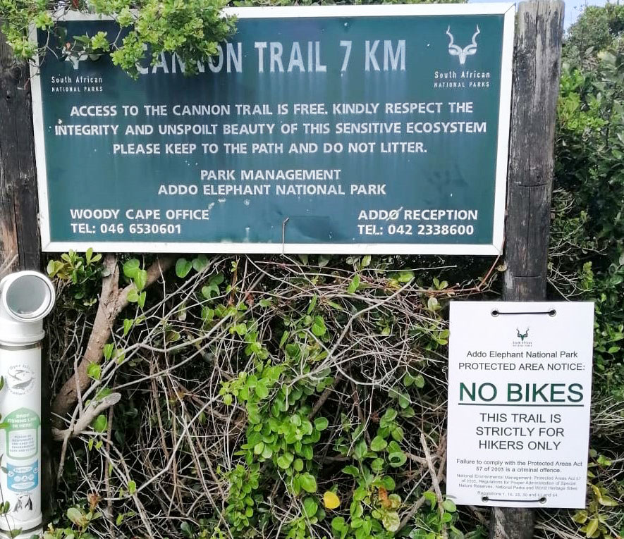 Cannon Rocks Trail entrance